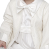 Boys Vivaki Ivory Diamond Christening Romper